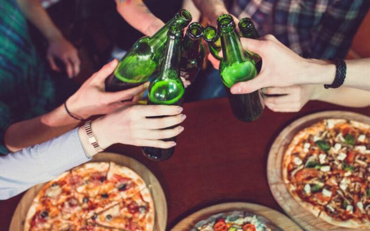 cerveja com pizza
