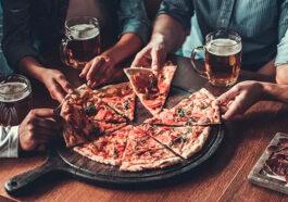 cerveja e pizza